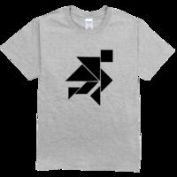 黑白七巧板帅气出场高档彩色T恤