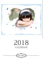 2018手绘插画挂历-A3挂历