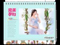 完美孕妇-准妈妈-孕妇-照片可替换-8寸双面印刷台历