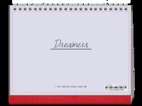 Dreamers追逐梦想勇敢前行-图文可改-时尚极简风-8寸双面印刷跨年台历