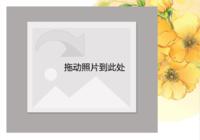韩国唯美水彩花卉插画-彩边拍立得横款(18张P)