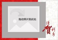 恭贺新年-彩边拍立得横款(6张P)