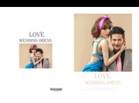 婚纱模版---爱的嫁衣-8x12对裱特种纸22p套装