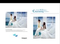 有你的风景更美丽 纪念册 结婚纪念册 定婚纪念册 恋爱纪念册 影楼风格(字图可替换)-8x12对裱特种纸22p套装