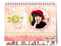 七彩梦幻乐园(适用于亲子、朋友、情侣、家人)-8寸单面印刷台历