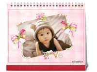 粉色系 可爱的小萌娃 花一样的你 宝宝成长记录-10寸双面印刷台历