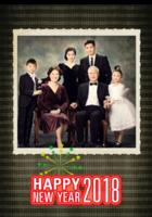 2018全家福  家庭 照片可替换-B2单月竖款挂历