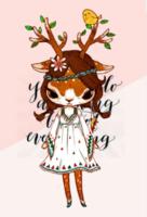 百变小鹿·收藏版-定制lomo卡套装(25张)