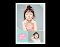 Hello my baby 亲子系列 萌宝纪念620-14寸木版画竖款