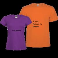 牵手(姓名NANA可替换)-修身情侣装纯棉T恤