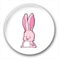 长耳朵兔子-3.2个性徽章