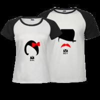 情侣衫-时尚插肩情侣装T恤