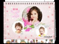 天使宝宝秀-8寸双面印刷台历