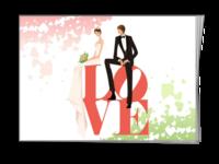 手绘唯美 小清新梦幻 甜美新娘 婚纱 西式婚礼 完美婚嫁 洁白无瑕 新婚礼物 日韩系 浪漫 欧式-A5骑马钉画册