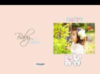 快乐宝贝 幼儿园 周岁生日 图文可替换-8x12对裱特种纸22p套装