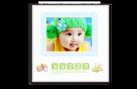 宝宝成长录(封面照片可更换)-8x8水晶照片书