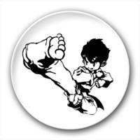 跆拳道 卡通-4.4个性徽章