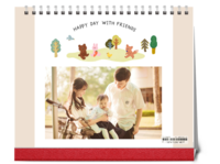 快乐每一天-韩版卡通宝宝儿童-10寸双面跨年台历