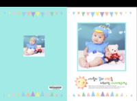 韩版儿童成长画册-8x12对裱特种纸22p套装