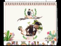 水彩浪漫婚礼手绘-8寸单面印刷台历