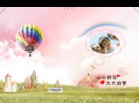 【孩子的梦·绯之童话】宝宝亲子童年成长可爱温馨唯美浪漫卡通纪念册照片书(50张)-硬壳对裱照片书20P