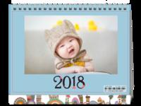 2018爆款十二生肖台历(萌娃-全家福-商务-通用-照片可换8HS台历)-8寸双面印刷台历
