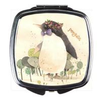 卡通可爱小企鹅-创意方款化妆镜