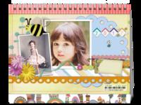 宝贝快乐成长(封面图片可替换)-8寸双面印刷台历