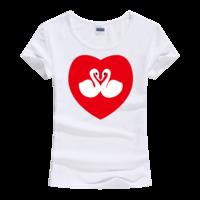天鹅之恋女款莫代尔T恤