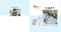 大象小兔子清新小插画【捕捉快乐瞬间】图文可改-方8寸硬壳照片书