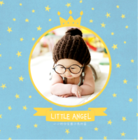 我家的小天使-小小的你是最闪亮的星-精美高档PU照片书8x8