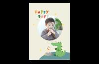 快乐每一天-韩版可爱小清新卡通宝宝相册-8x12印刷单面水晶照片书21p