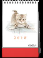 可爱猫咪控-萌化你的心(各种睡姿)-8寸竖款单面台历