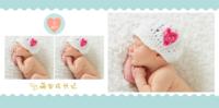 清新版 可爱萌宝成长记亲子宝贝(大容量相册)9810-8x8PU照片书NewLife