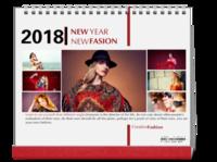 NEW FASION 新时尚(个人写真桌面台历) 高档原创欧美经典精品自由DIY-10寸双面印刷台历