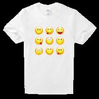 开开心心过每一天舒适白色T恤