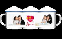 感恩教师节(图中人物照片可替换)-大号搪瓷杯