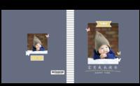 宝贝成长快乐-8X8锁线硬壳精装照片书32p