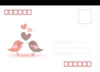 爱情-情侣-爱情鸟01-18张全景明信片(横款)