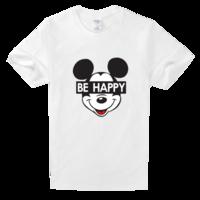 开心米奇高档白色T恤