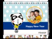 小熊猫的快乐生活,开心每一天-8寸双面印刷台历