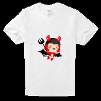 图案 台历/阿狸牛魔王卡通搞怪舒适白色T恤