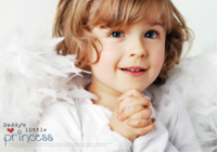 我是爸爸的小公主(装饰可移动、图片可换)-B2单面横款印刷海报
