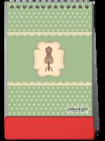 【慢生活】感受时光温度の公主风轻复古缝纫元素-8寸竖款双面台历