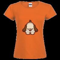 可爱小狗 时尚修身纯棉T恤女款