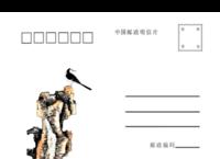 水墨画-商务-全家福-亲子-通用01-全景明信片(横款)套装