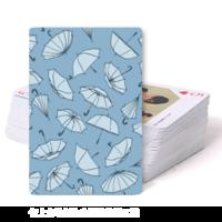 蓝色雨伞  纪念礼物-双面定制扑克牌