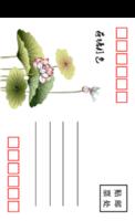 中国风-荷塘月色-全景明信片(竖款)套装