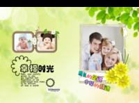 成长的足迹 幸福的痕迹 儿童成成长写真册 给宝贝最好的礼物-竖12寸硬壳高端对裱照片书42p
