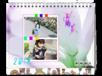 公子轩设计-玉兰花开-唯美浪漫-精美白色透明相框装饰-家庭宝贝佳选-8寸单面印刷台历